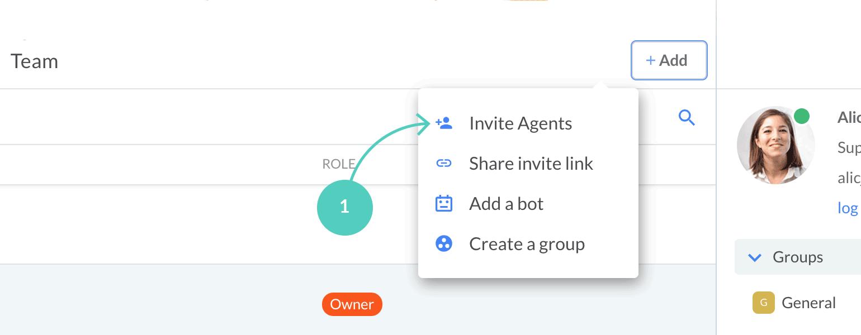 Invite agents manually
