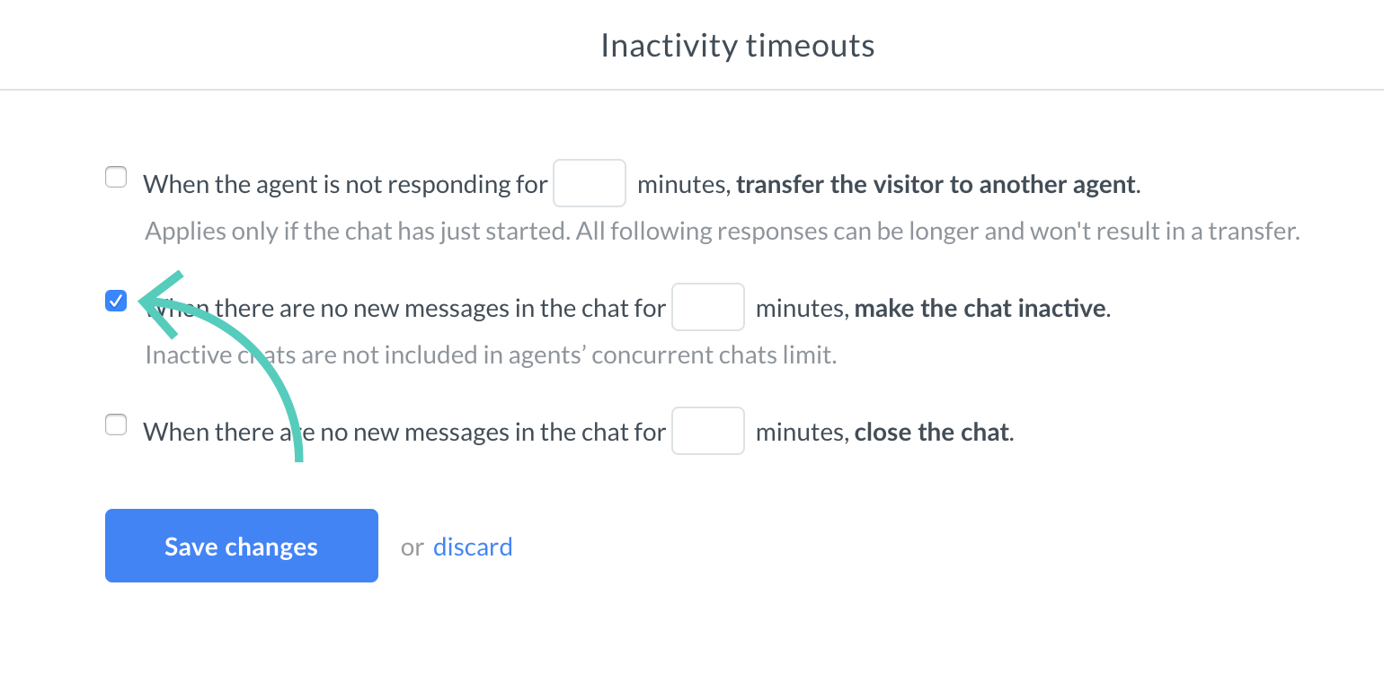 Make the chat inactive checkbox