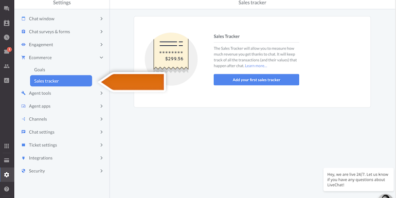Shopify-LiveChat-sales-tracker