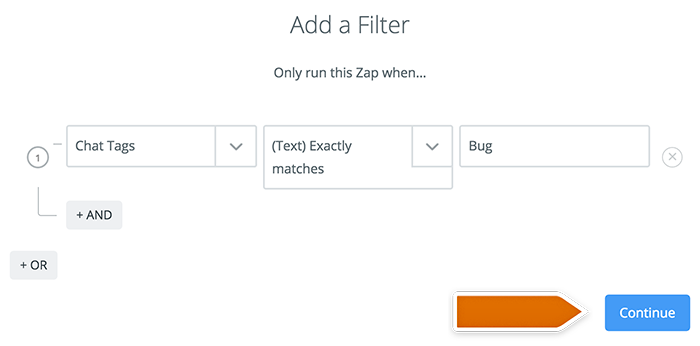 Integration with GitHub: New filter in Zapier