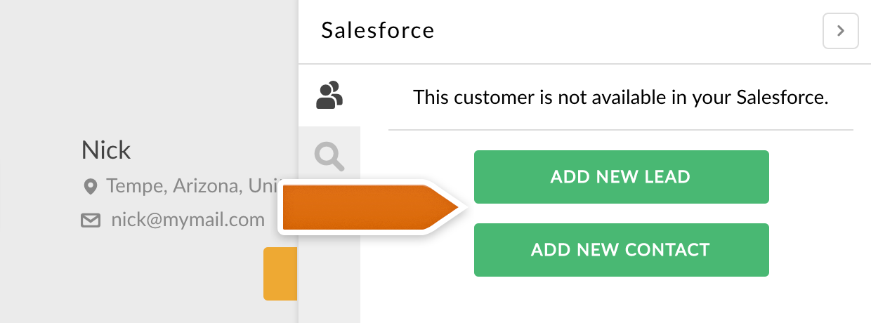Adding lead or a contact from LiveChat