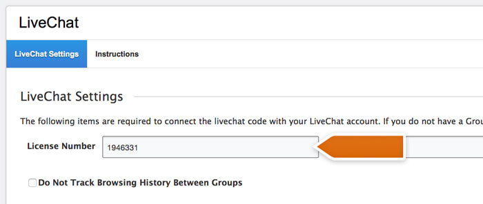 Pasting the LiveChat code in Adobe Business Catalyst