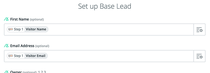 Base CRM integration: Setting up the conditions