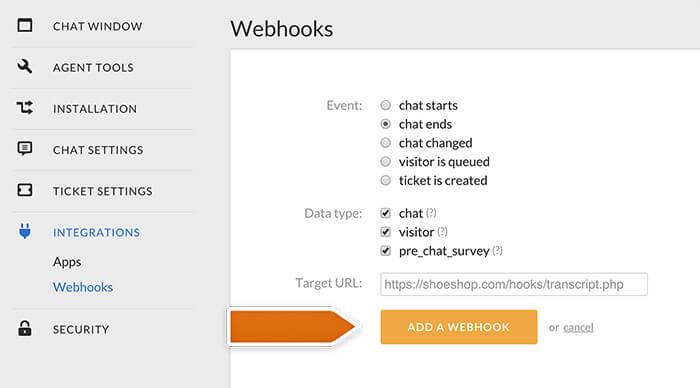Finalizing webhook creation