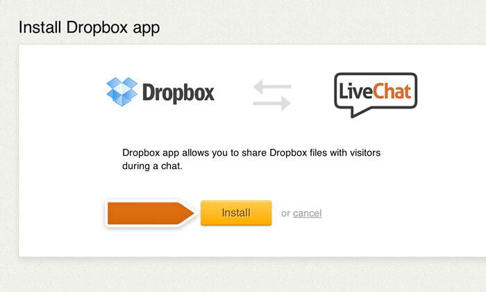 Finalizing Dropbox integration installation