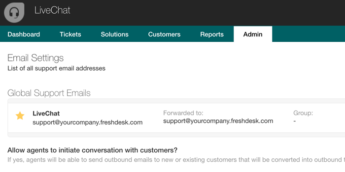 Freshdesk support email address
