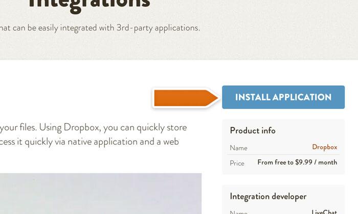 Installing Dropbox integration