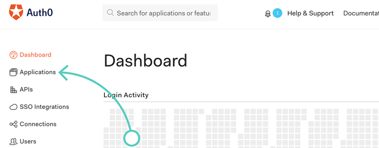 Go to Applications in your Auth0 dashboard