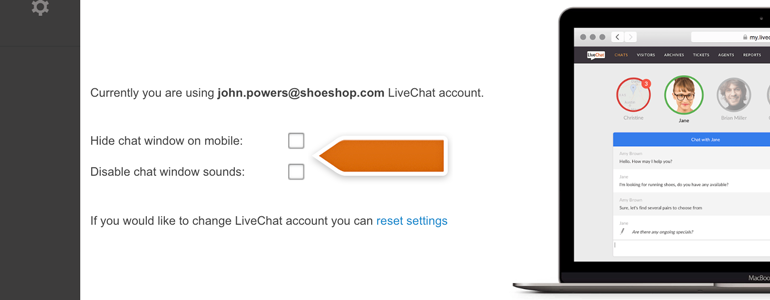 DotNetNuke Chat: tweak your LiveChat plugin
