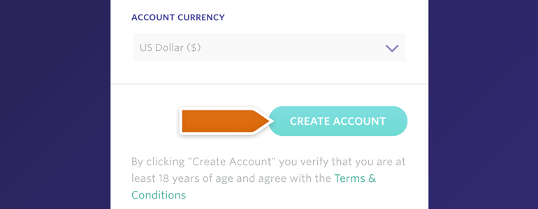 Fill Entropay's registration form to create account
