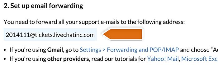 Copying forwarding address