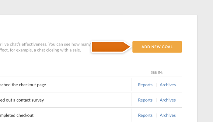 Adding a new Goal in LiveChat