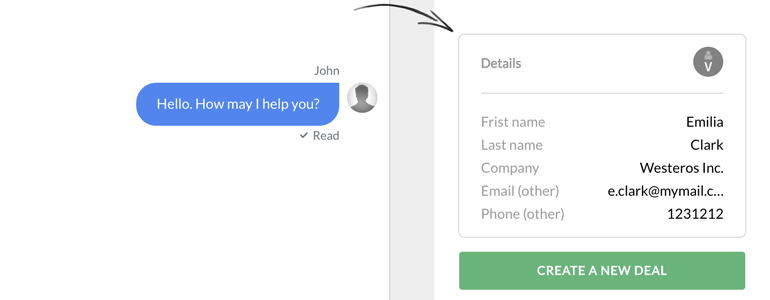 Highrise LiveChat: See your customer's details during chat