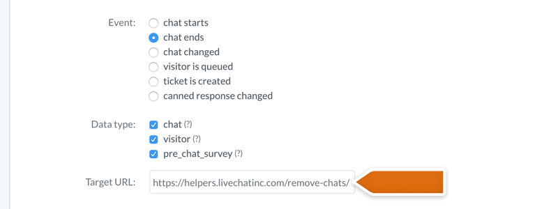 LiveChat HIPAA compliant: configure your data settings and target URL address