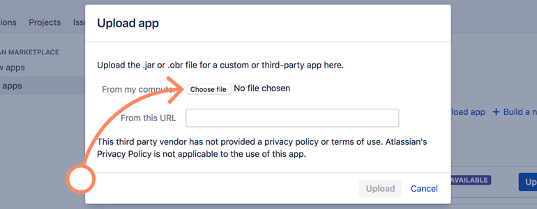 Jira: upload your LiveChat app