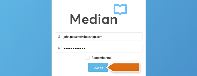 Log into Median to proceed