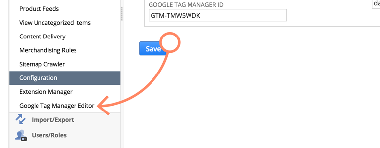 NetSuite LiveChat: Choose Google Tag Manager editor