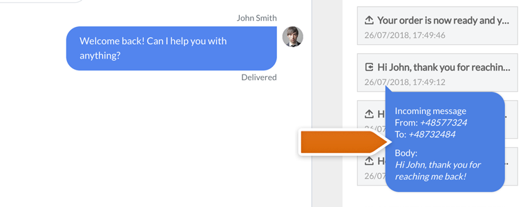 Twilio LiveChat: Preview the previous message with your customer