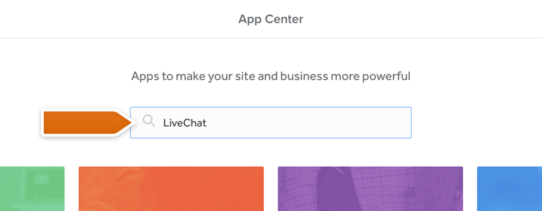Use search tool to look for LiveChat