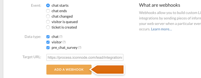 Add Target URL and finalize the process