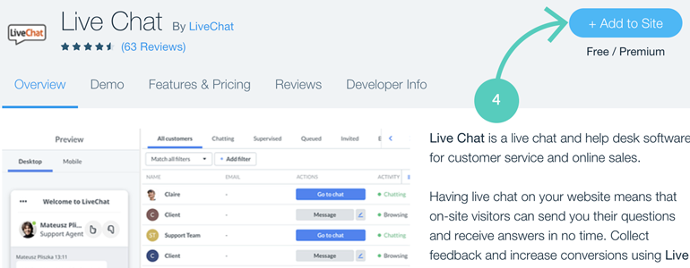 Wix integration: adding LiveChat to your website