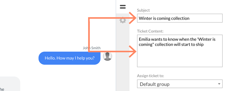 Zendesk LiveChat: provide your ticket subject and edit it's content
