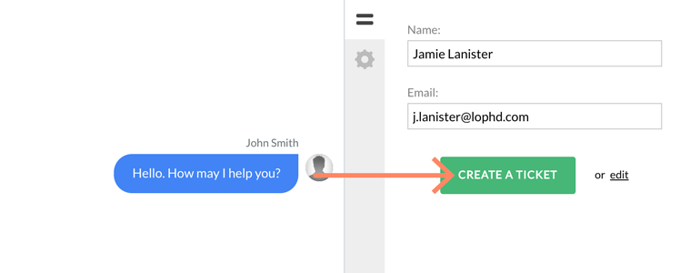 Zendesk LiveChat: Create a ticket for a first-time visitor