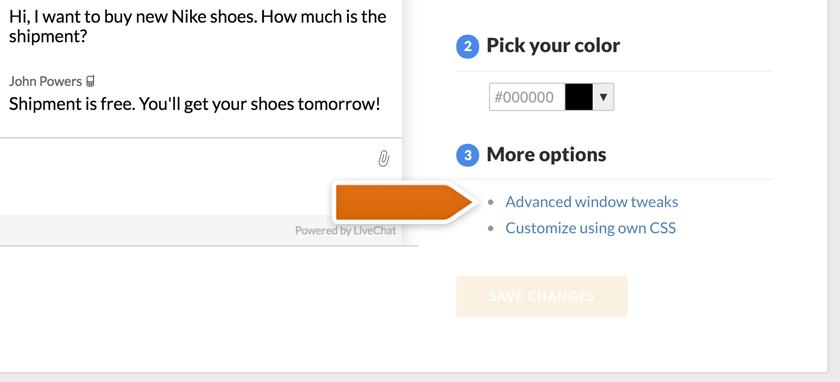 Accessing advanced window tweaks