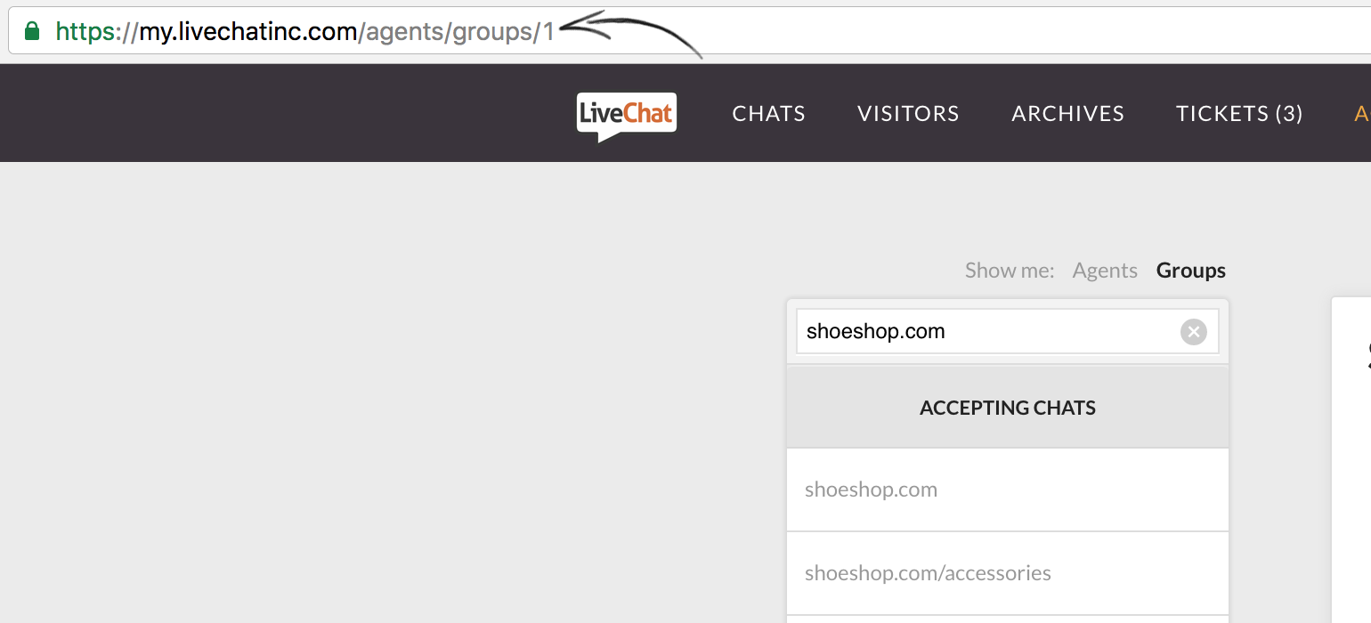 How to find group ID at LiveChat