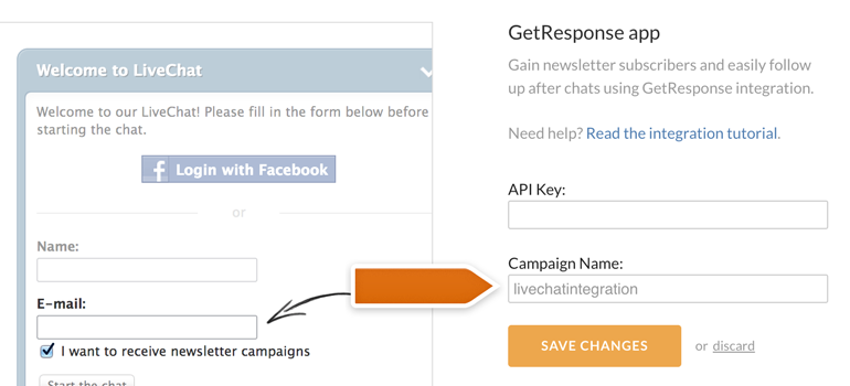 Adding campaign name to GetResponse app settings