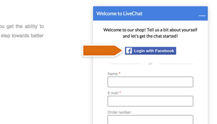 Social media integrations | LiveChat Help Center