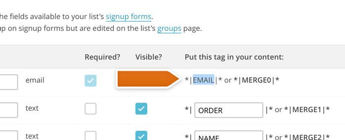 Copying merge fields names