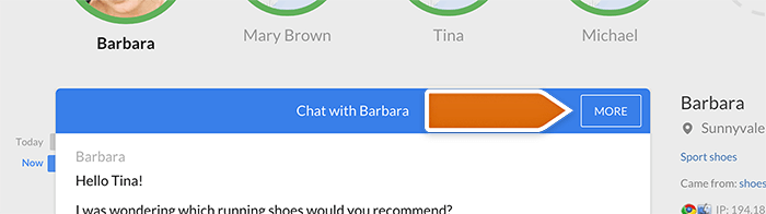 More button in chat window