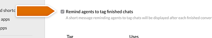 Remind agents about tagging chats