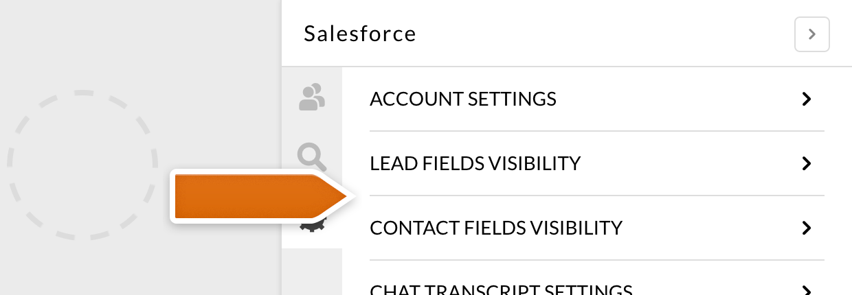 Setting the fields visibility