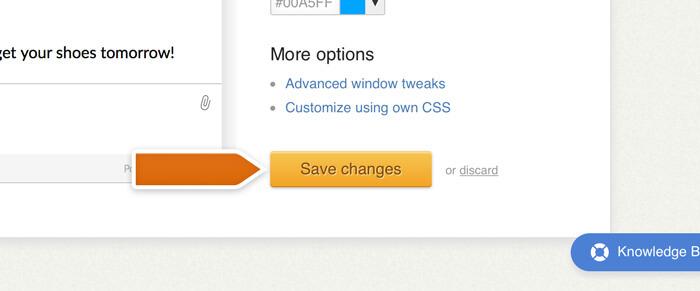 Saving advanced tweaks changes