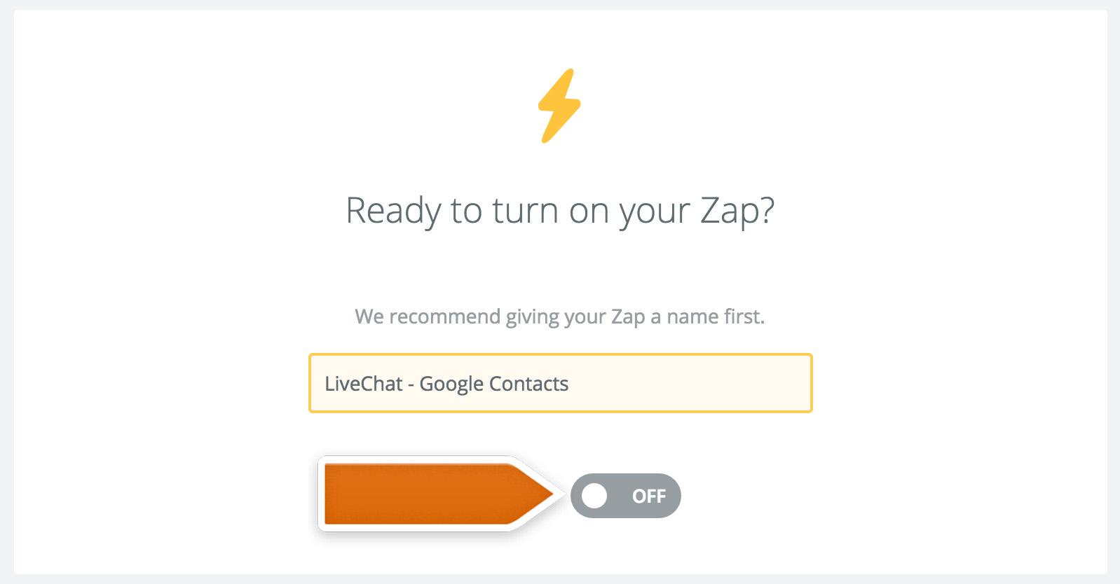 Saving the Google Contacts integration