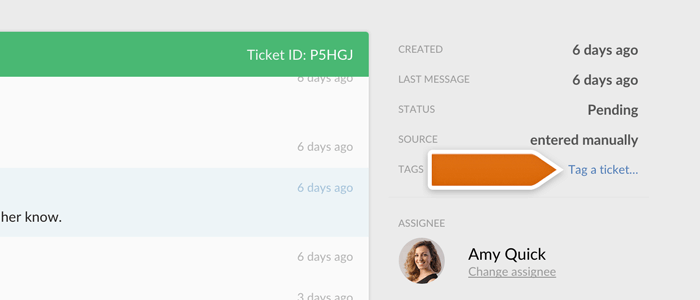 Tagging tickets in LiveChat
