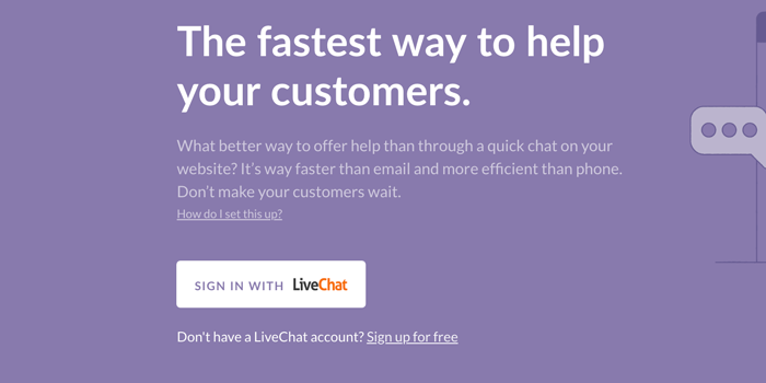 Log into your LiveChat account