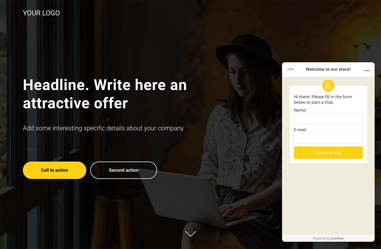 Tilda website with LiveChat installed