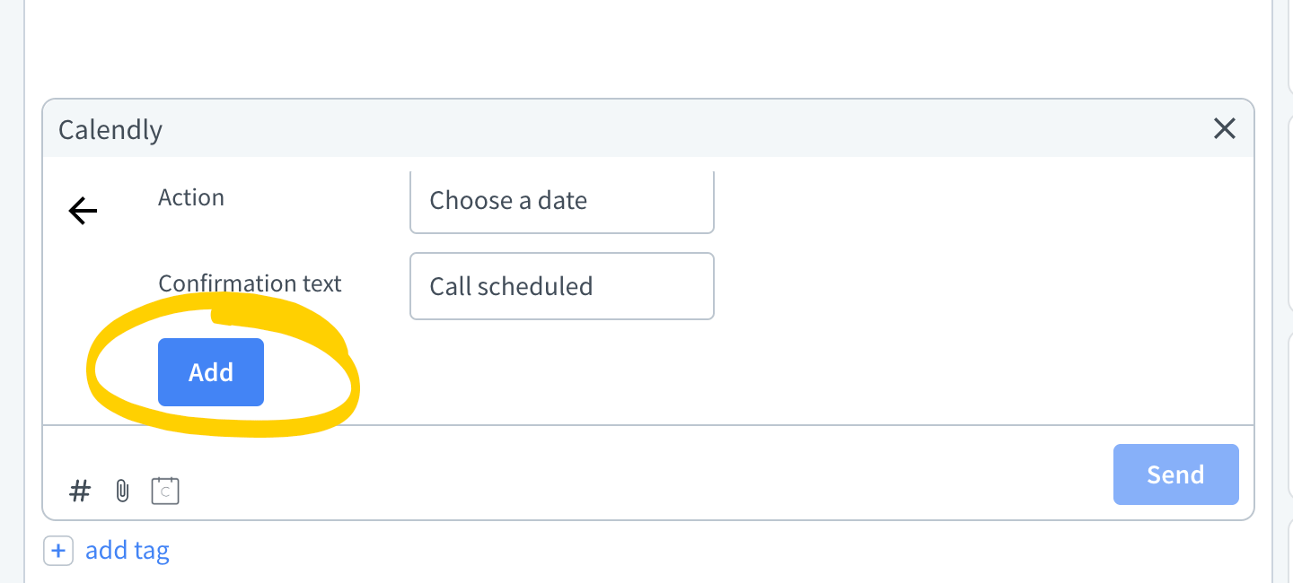 Add Calendly invitation template