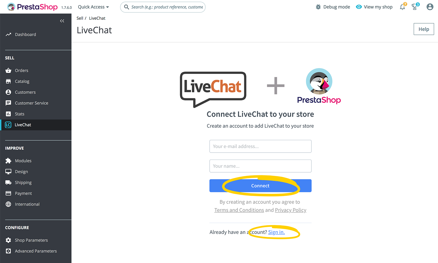 Connect LiveChat to your PrestaShop