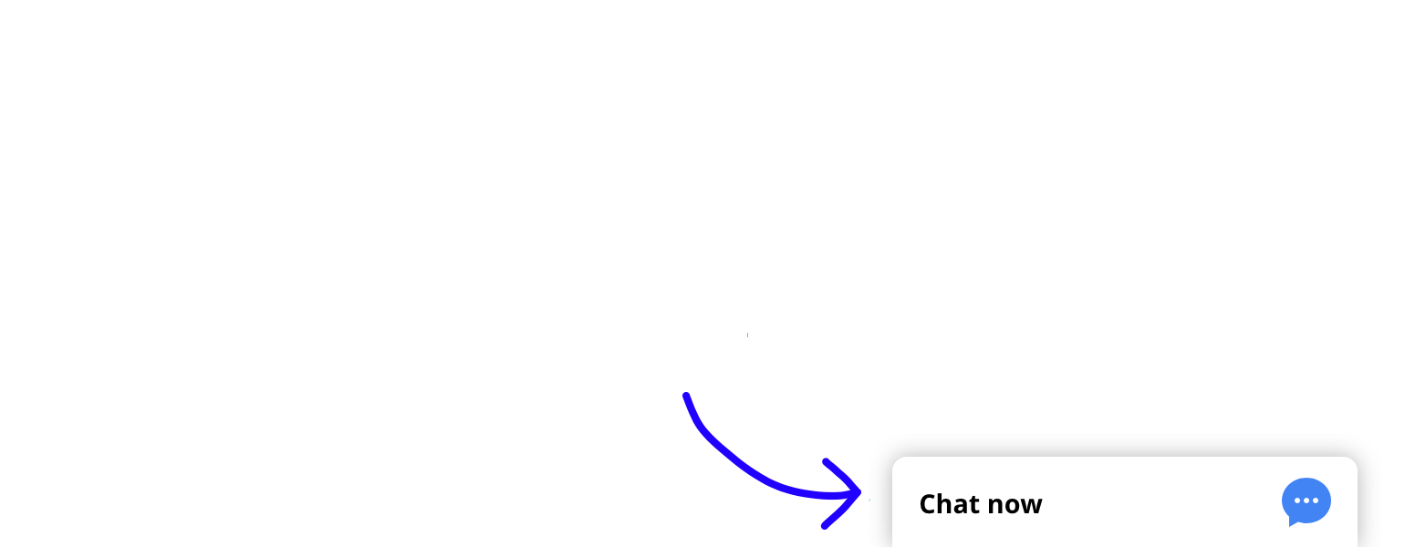 Chat widget installed on a website