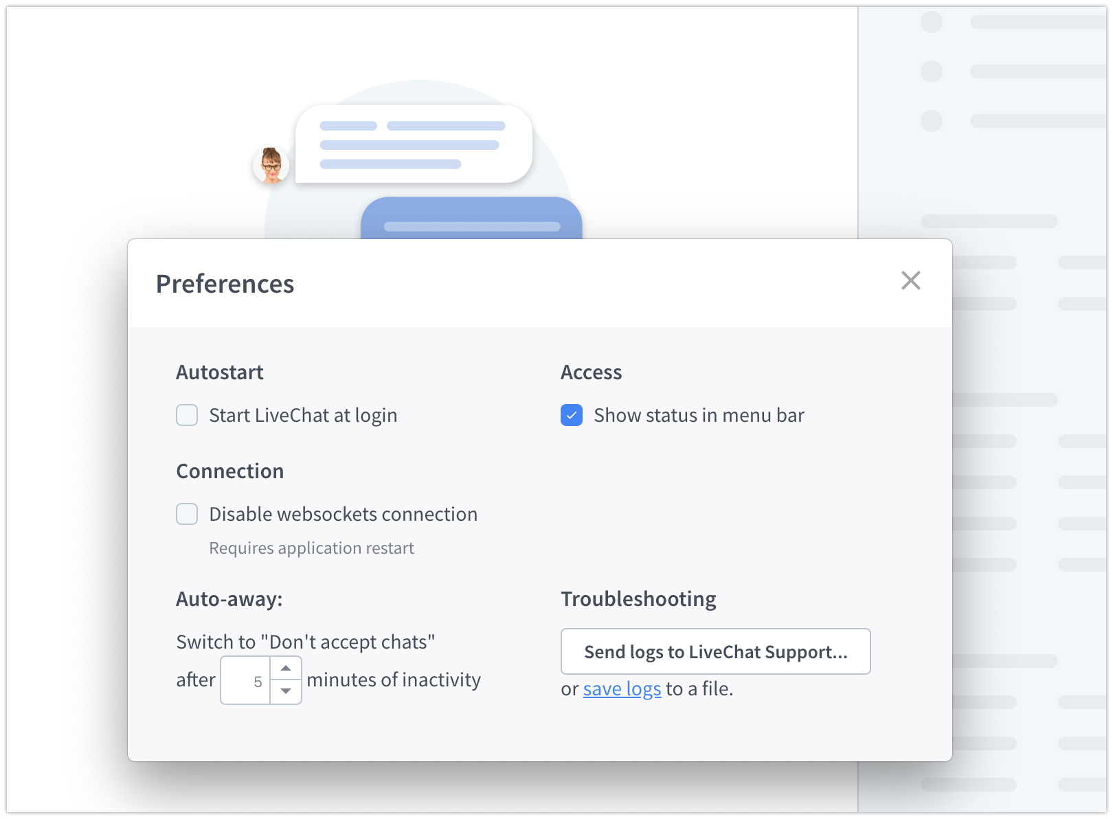 Setting auto-away on Mac OS