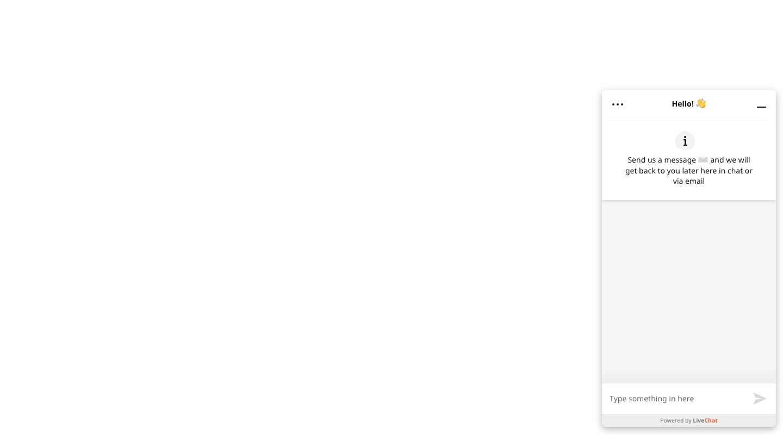 Customers send messages via LiveChat chat widget