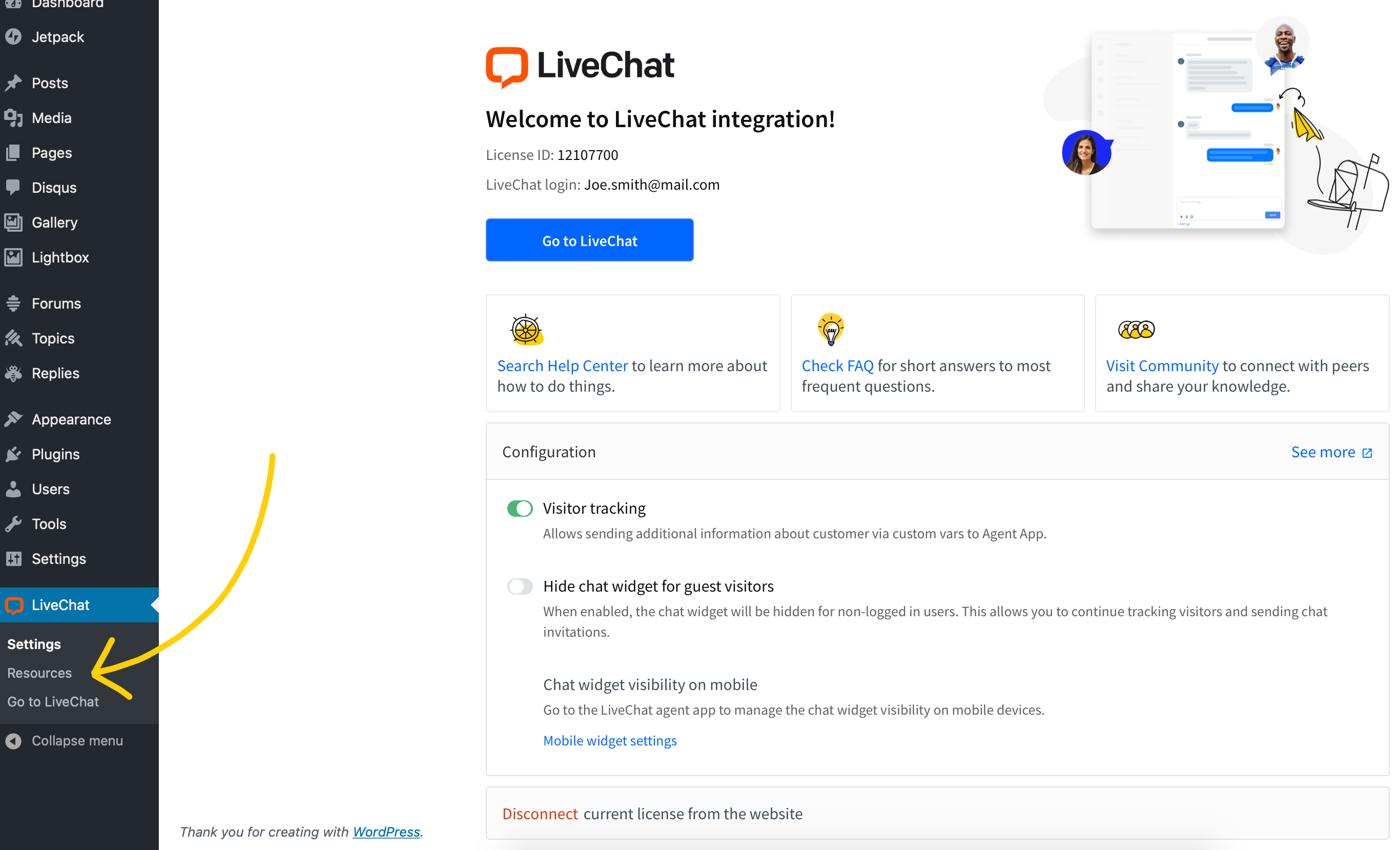 LiveChat resources
