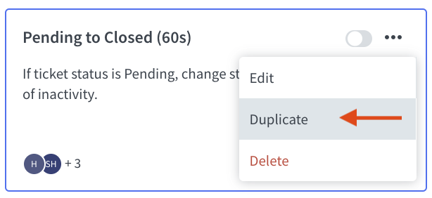 Duplicating the automated workflow