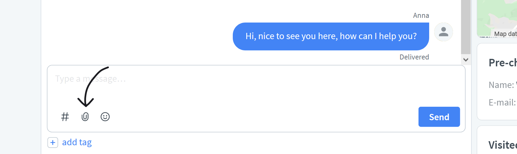 Send files over LiveChat