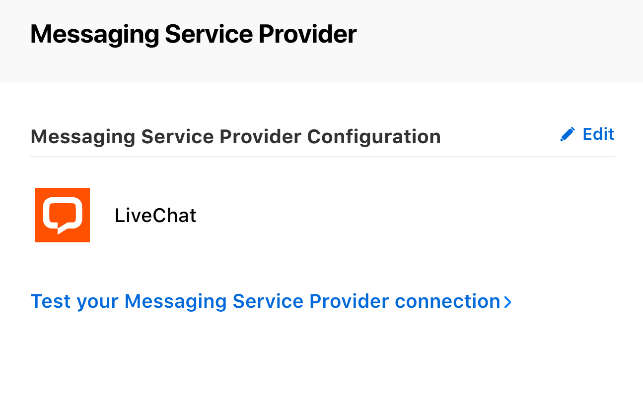 Test your Messaging Service Provider connection.