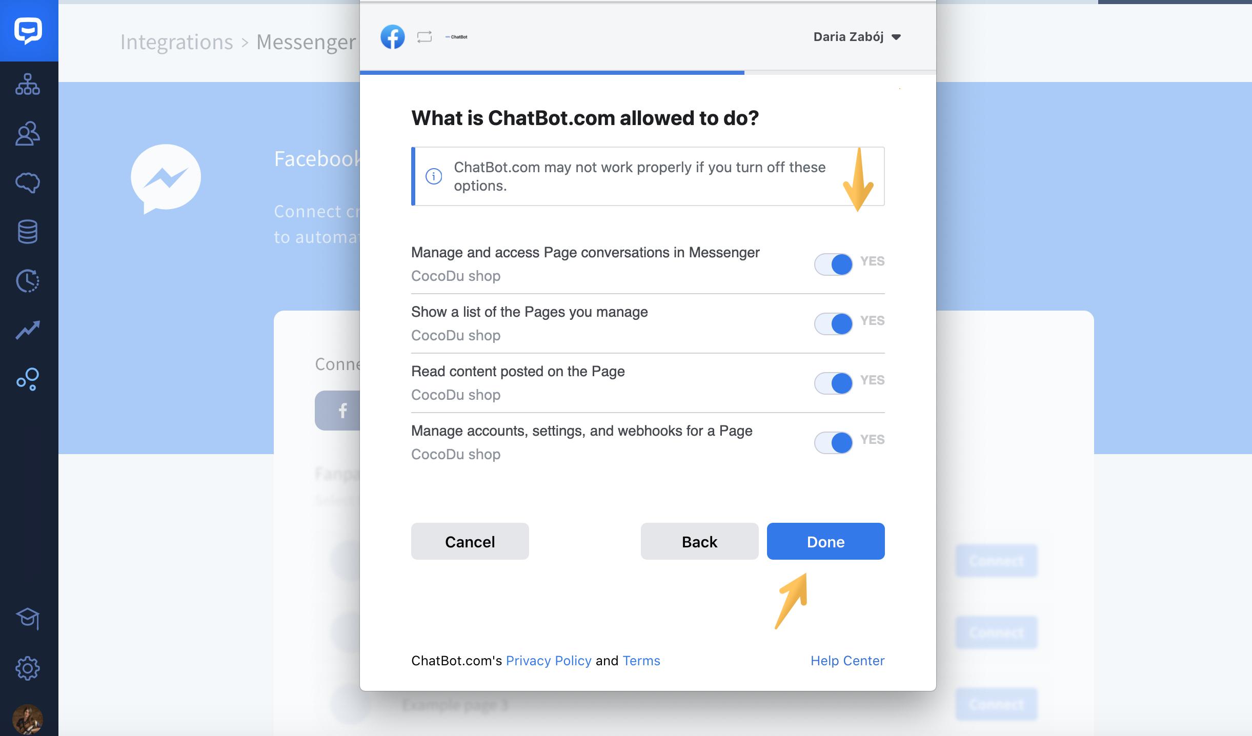 chatbot-messenger-integration